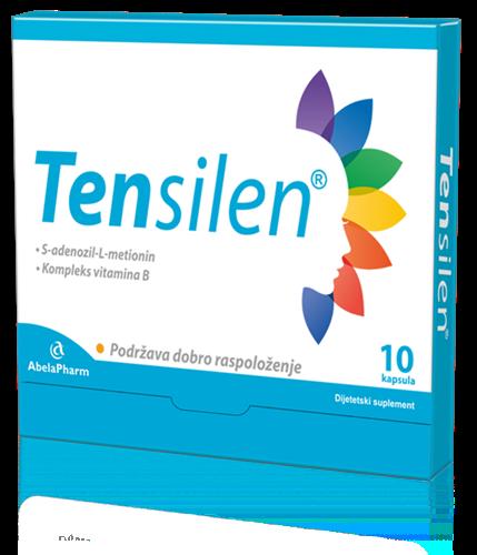 Tensilen kutija. Tensilen je prirodan proizvod na bazi SAMe i kompleks vitamina B.